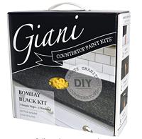 The Giani Countertop Paint Kit - Bombay Black